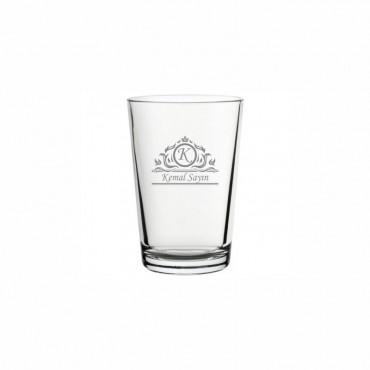 Harf ve İsim İşleme Klasik Su Bardağı