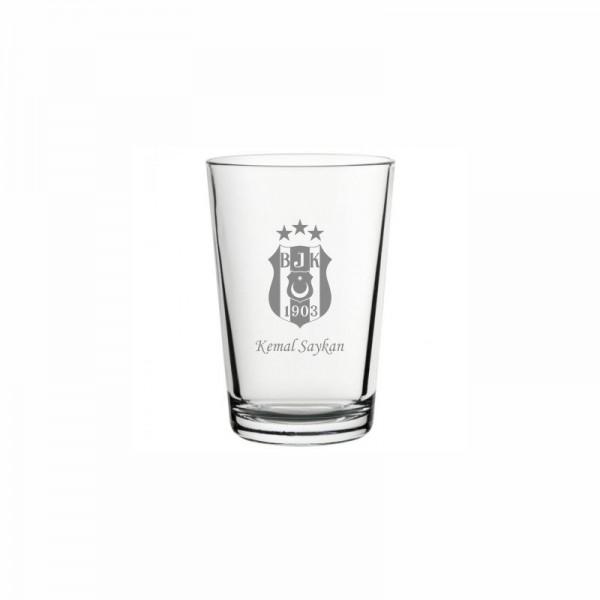 Beşiktaş Logolu Klasik Su Bardağı