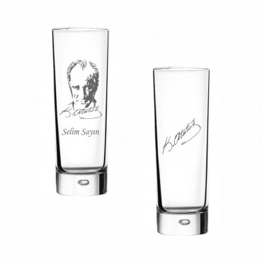 K. Atatürk Okkalı Rakı Bardağı