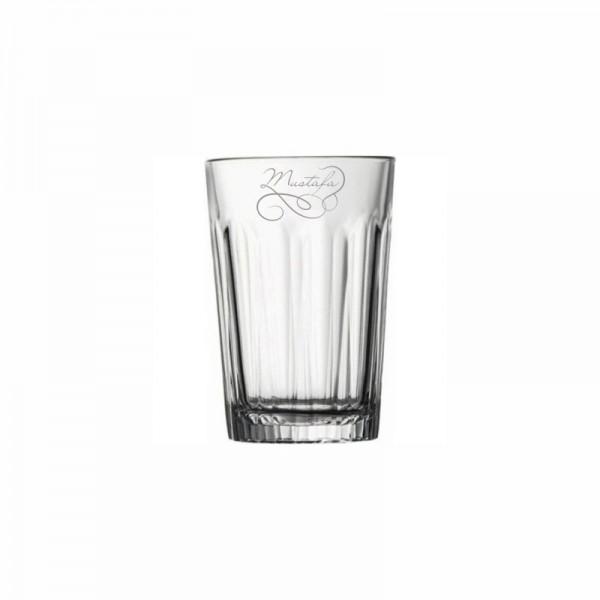 El Yazısı İsim Yazılı Casablanca Su Bardağı